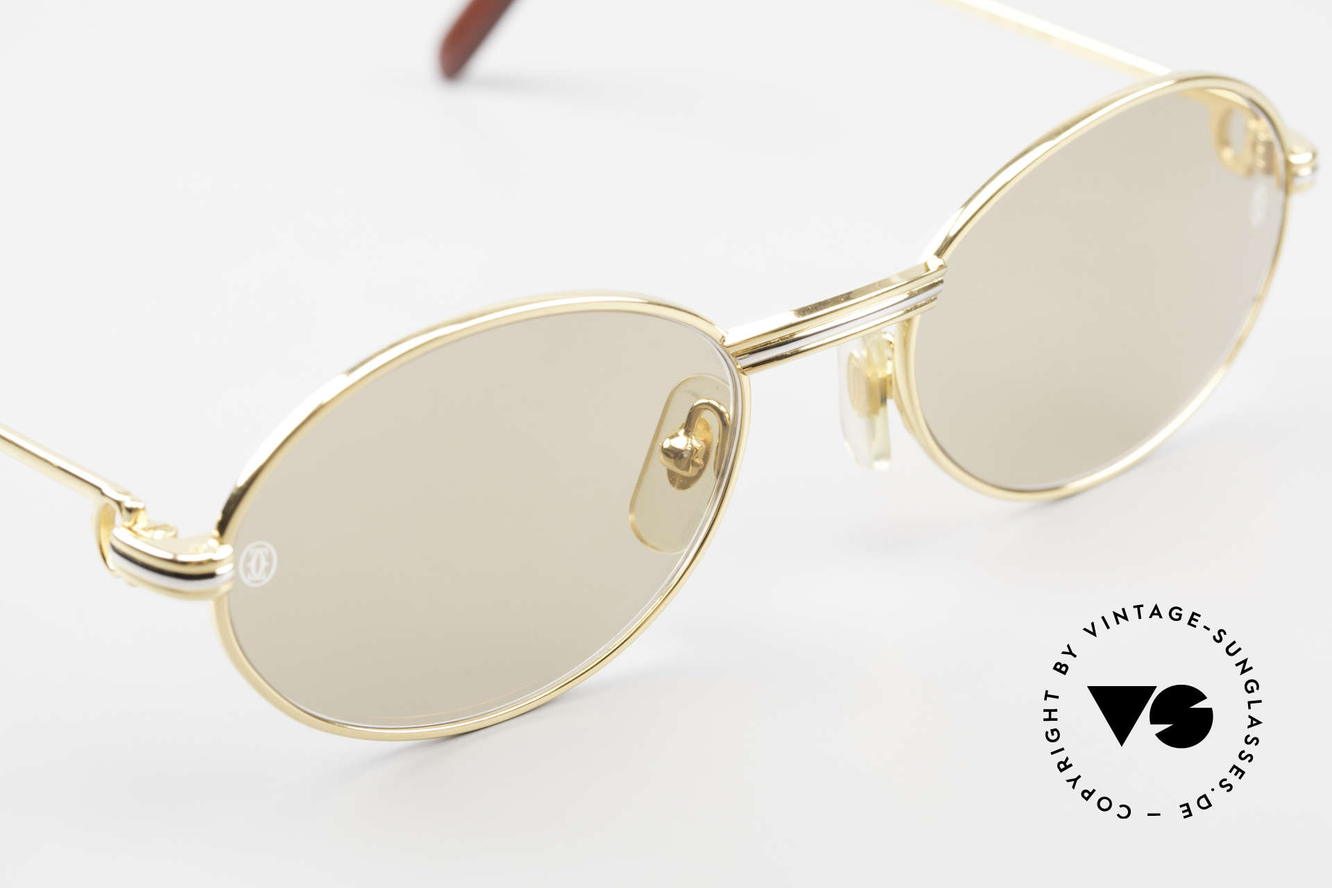 Cartier Saint Honore - S Oval 90's Luxury Sunglasses, 2nd hand model, but in mint condition with orig. box, Made for Men and Women
