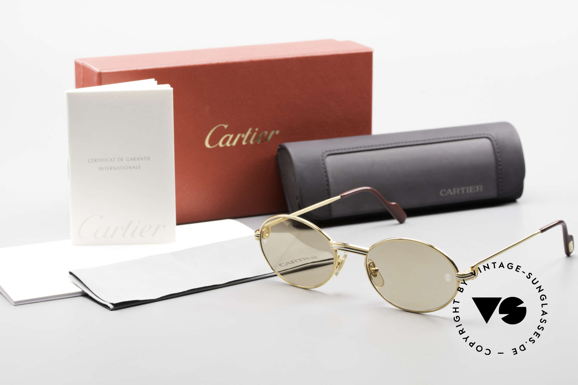 Cartier Saint Honore - S Oval 90's Luxury Sunglasses, Size: small, Made for Men and Women