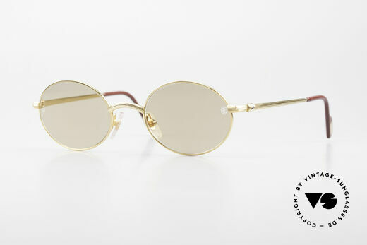 Cartier Sorbonne Oval Luxury Sunglasses 90's Details