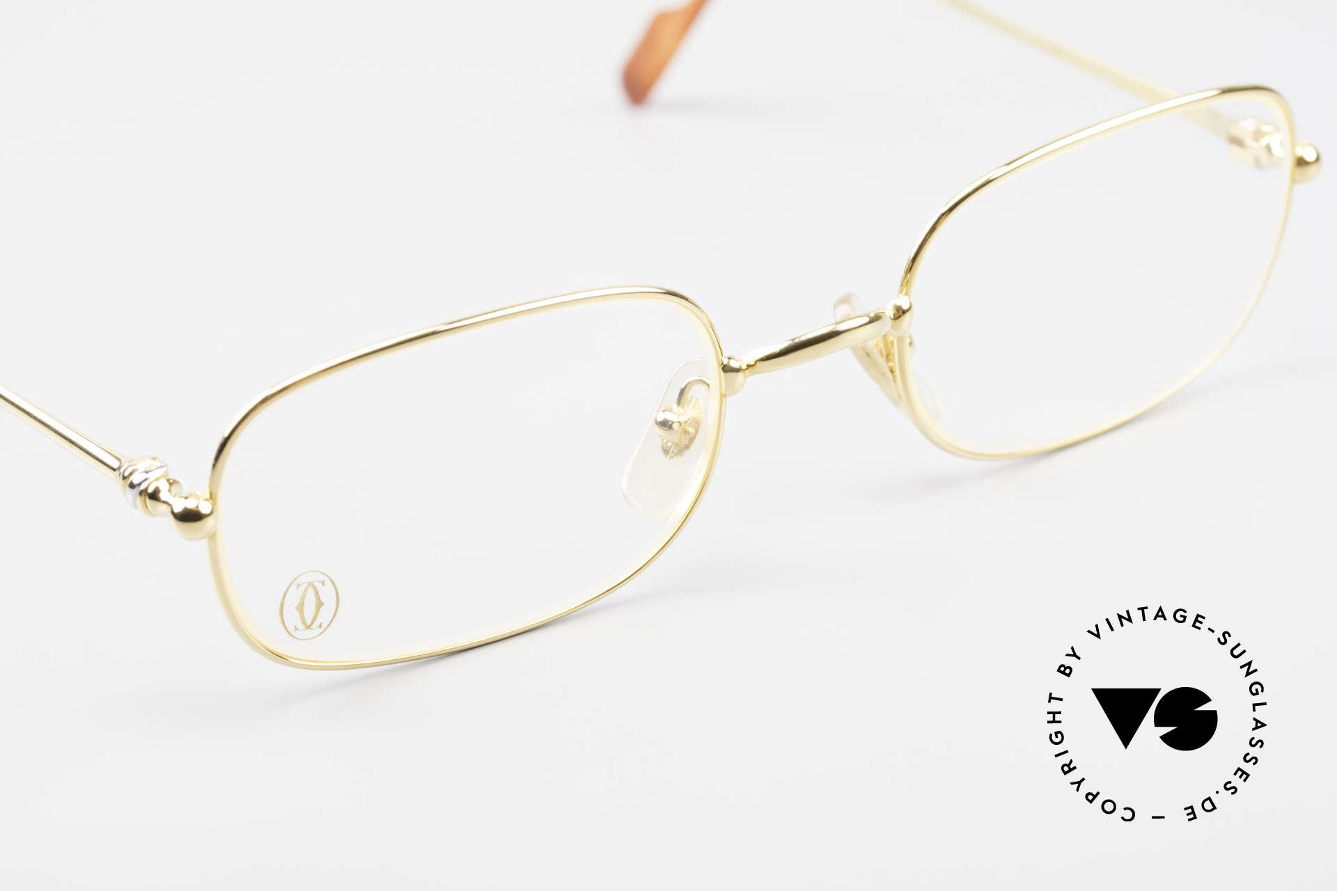 Cartier Deimios Rare Luxury Eyeglasses 90's, unworn rarity incl. orig. Cartier packing (case, cloth), Made for Men and Women