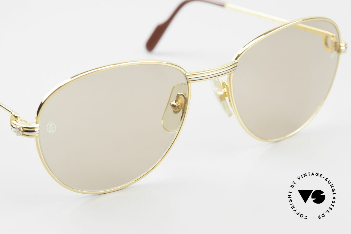 Cartier S Brillants 0,20 ct 1980's Diamond Sunglasses, unworn, NOS (hard to find in this condition, today), Made for Women