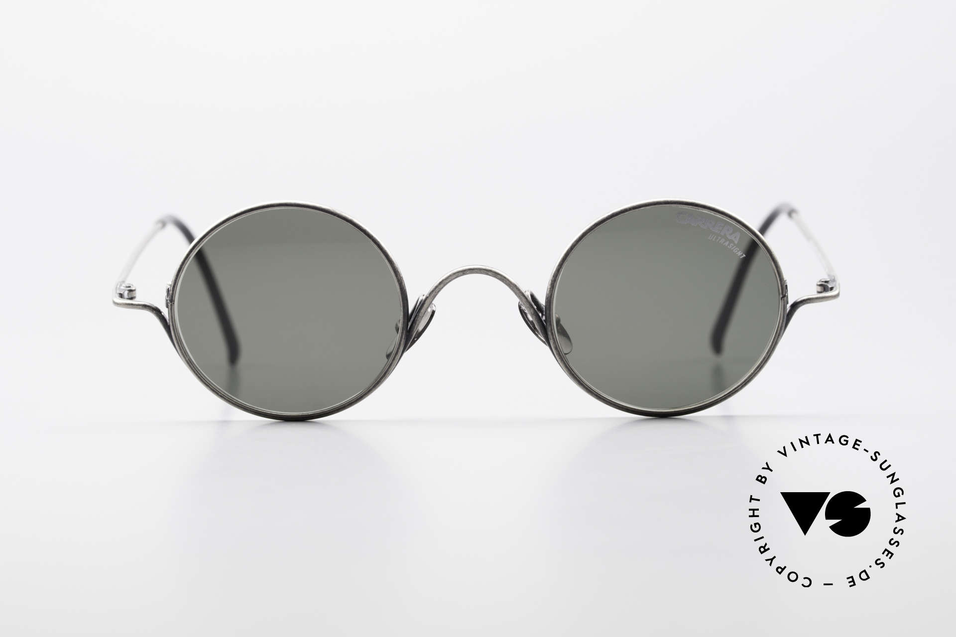 Carrera 5790 Small Round Vintage Glasses, solid frame in top-quality and 'antique metal' finish, Made for Men and Women