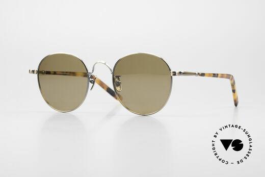 Lunor VA 111 Polarized Panto Sunglasses Details