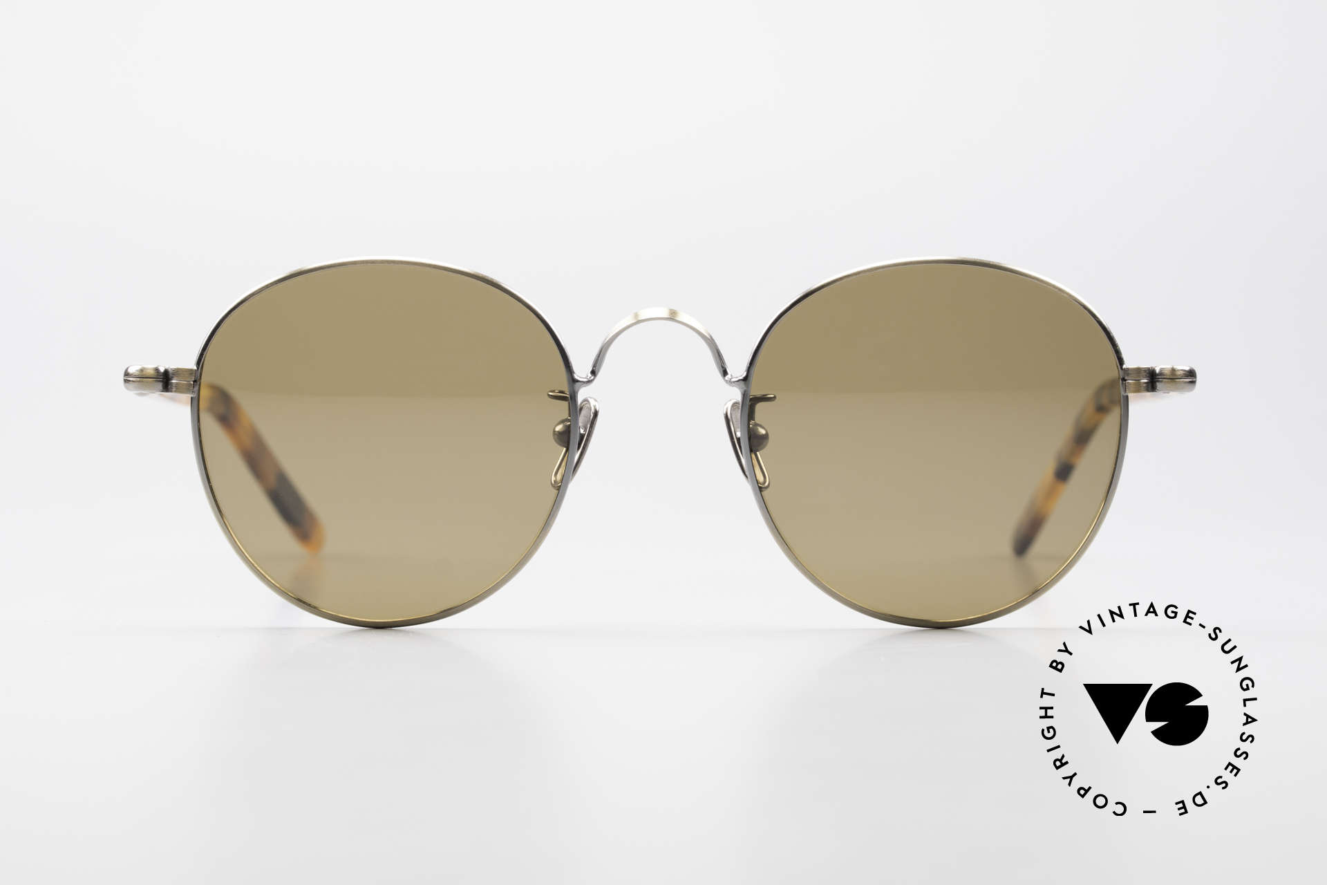 Lunor VA 111 Polarized Panto Sunglasses, without ostentatious logos (but in a timeless elegance), Made for Men