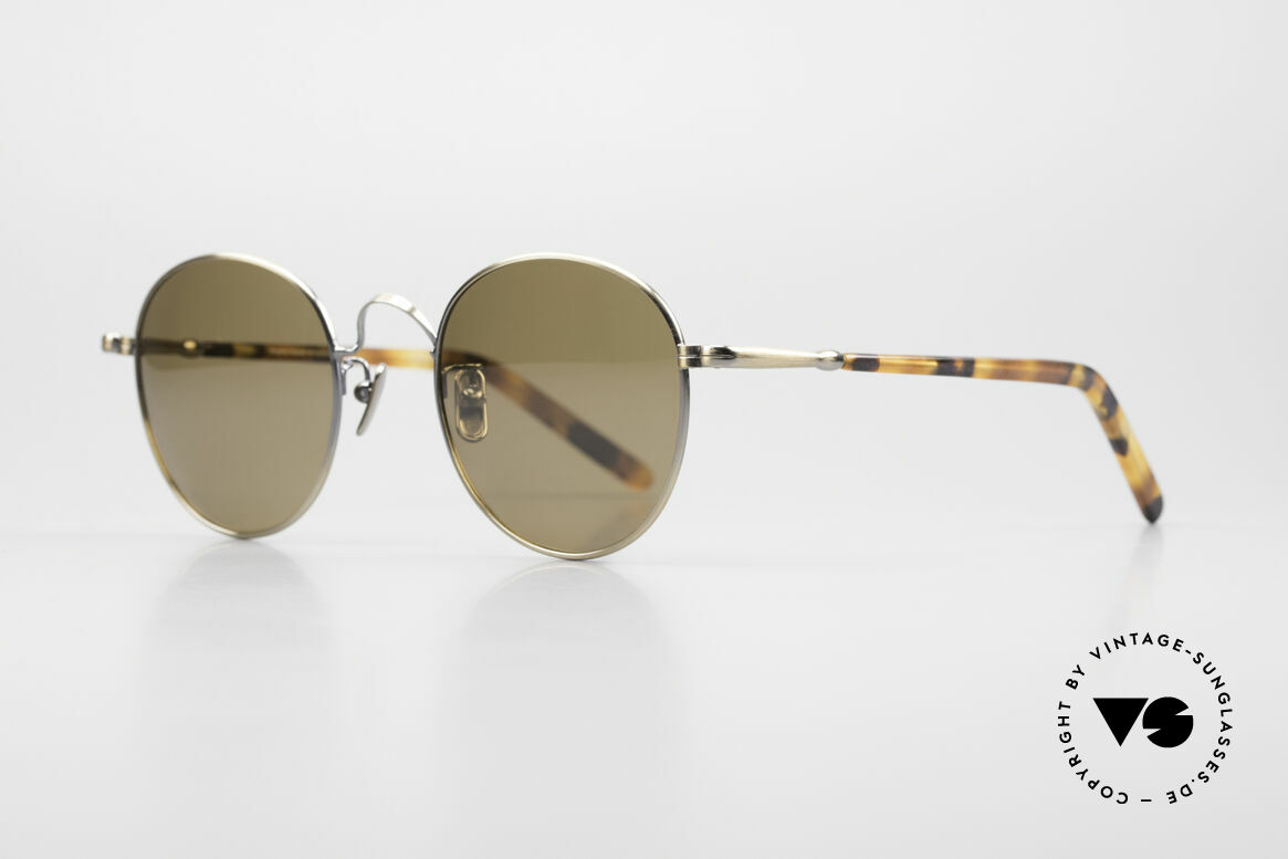 Lunor VA 111 Polarized Panto Sunglasses, model VA 111: very elegant Panto shades for gentlemen, Made for Men