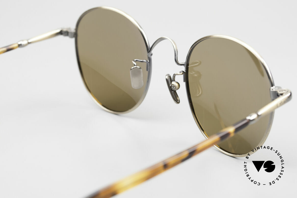 Lunor VA 111 Polarized Panto Sunglasses, unworn NOS (like all our old Lunor vintage ORIGINALS), Made for Men