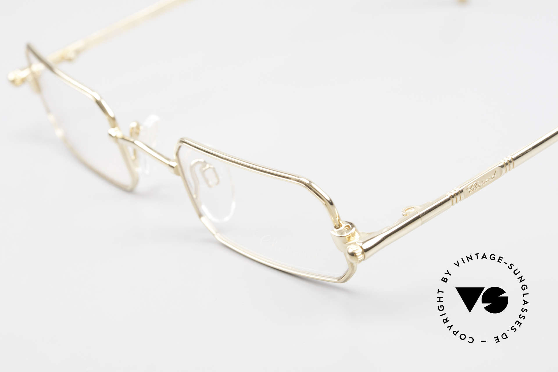 Chopard C002 Octagonal Luxury Eyeglasses, frame is 23kt GOLD-plated (in SMALL size 44-24!), Made for Men and Women