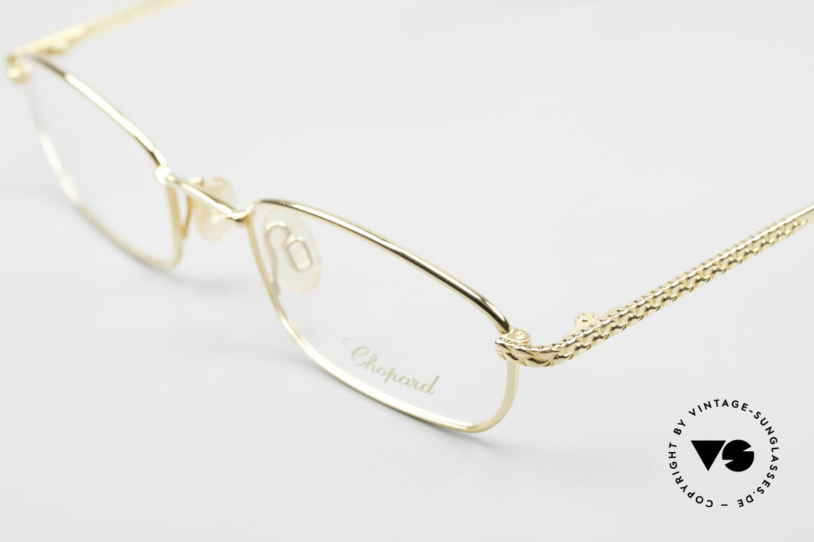 Chopard C052 Ladies Luxury Glasses 2000's, frame is 23kt GOLD-plated (in SMALL size 48-20!), Made for Women