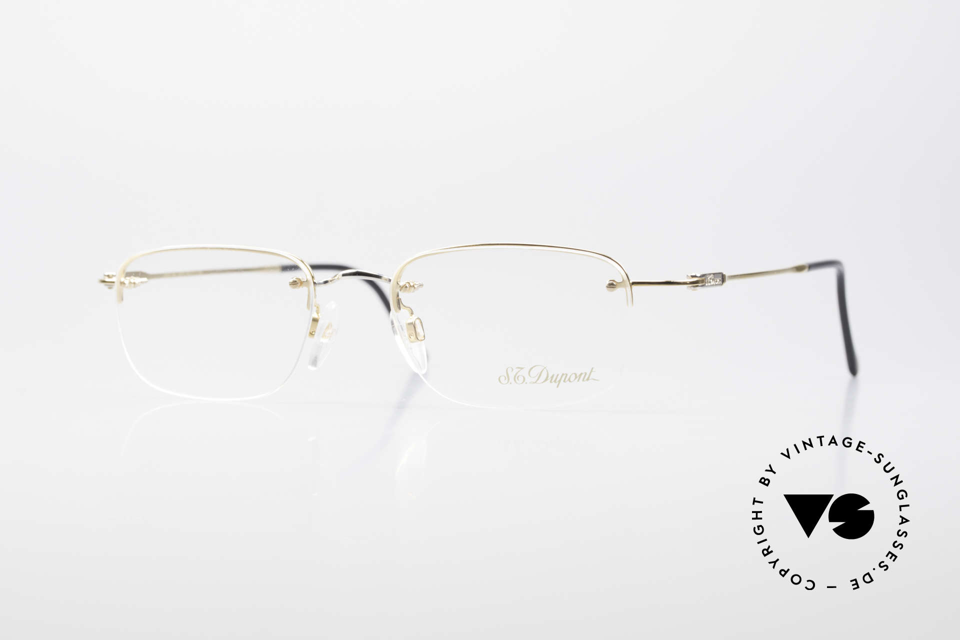 S.T. Dupont D523 Rimless Glasses Avance 2000's, old S.T. DUPONT luxury glasses, model D523 from 2001, Made for Men and Women