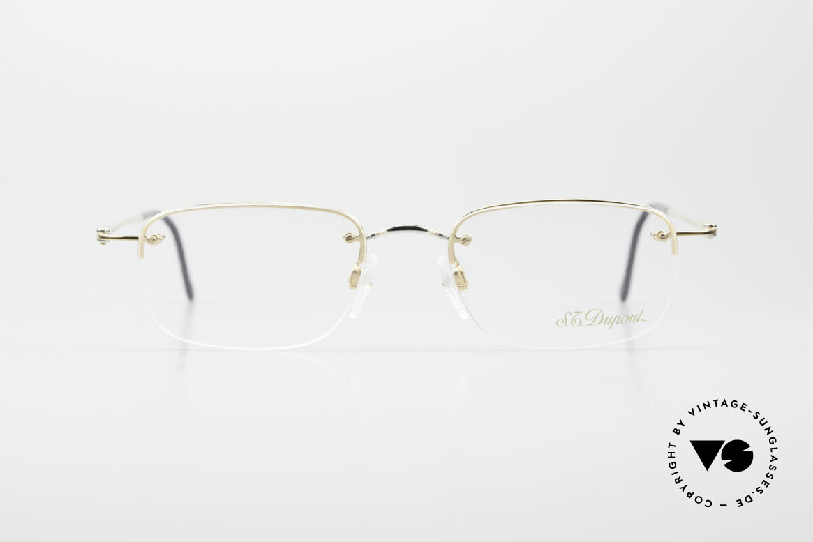 S.T. Dupont D523 Rimless Glasses Avance 2000's, rimless; lenses are fixed with screws to the metal frame, Made for Men and Women