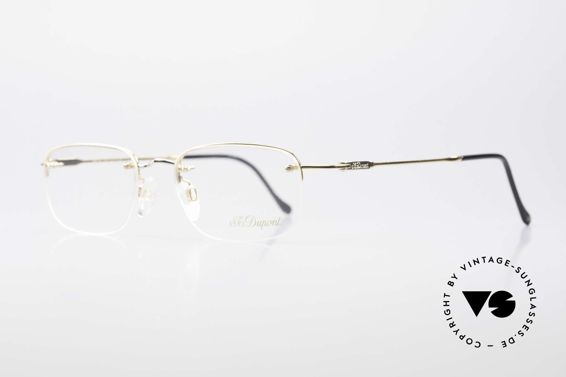 S.T. Dupont D523 Rimless Glasses Avance 2000's, very noble and 1st class wearing comfort; in size 49/17, Made for Men and Women