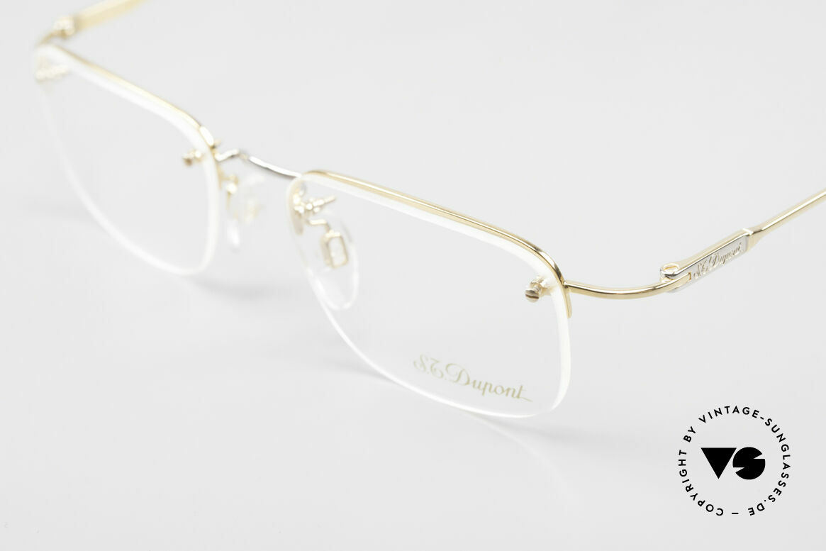 S.T. Dupont D523 Rimless Glasses Avance 2000's, incl. orig. S.T. Dupont cleaning cloth, case and packing, Made for Men and Women