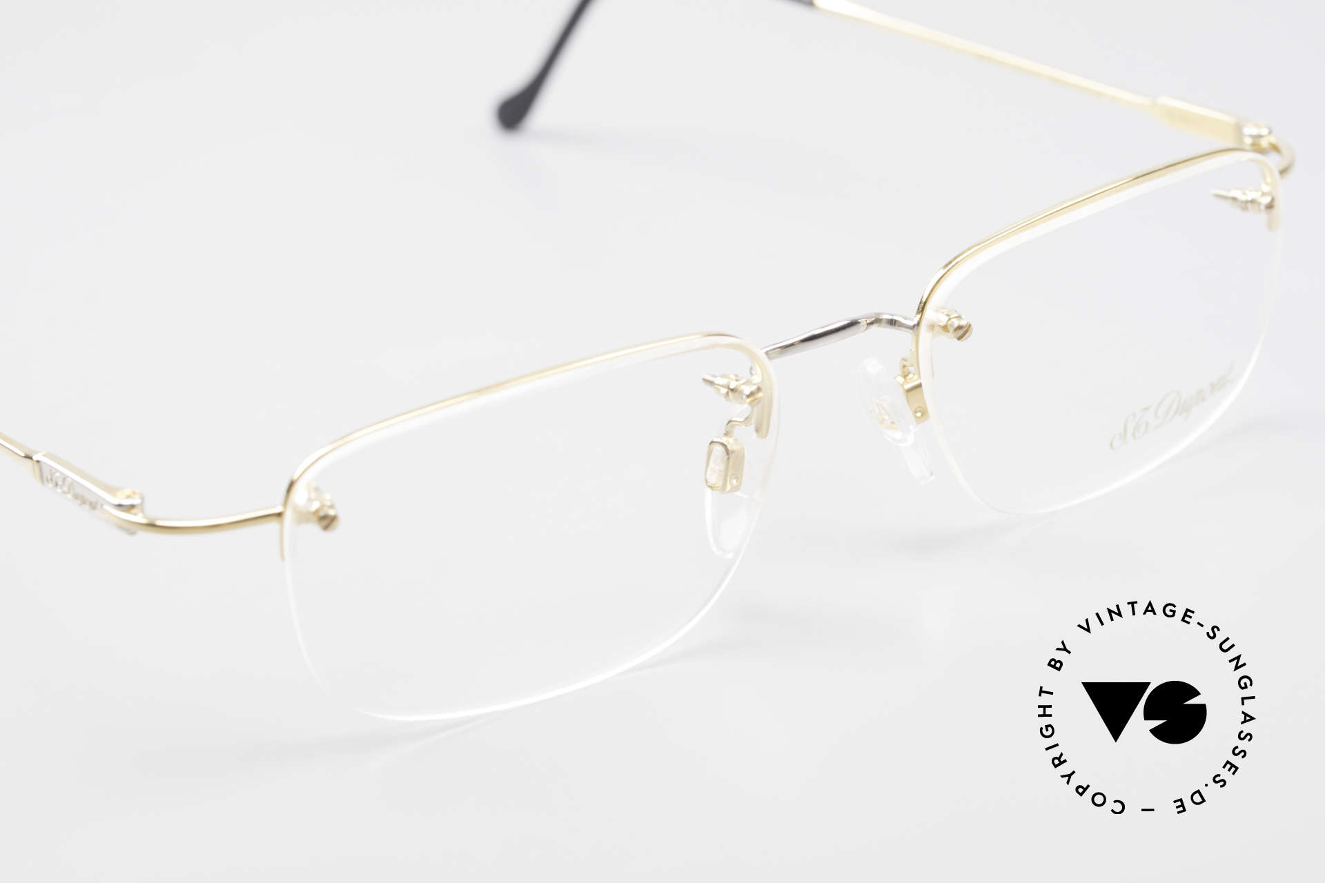 S.T. Dupont D523 Rimless Glasses Avance 2000's, unworn (like all our rare vintage specs by S.T. Dupont), Made for Men and Women