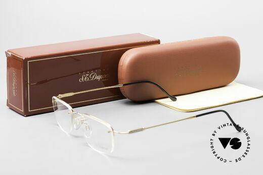 S.T. Dupont D523 Rimless Glasses Avance 2000's, NO RETRO eyeglasses, but a precious 2000's ORIGINAL, Made for Men and Women