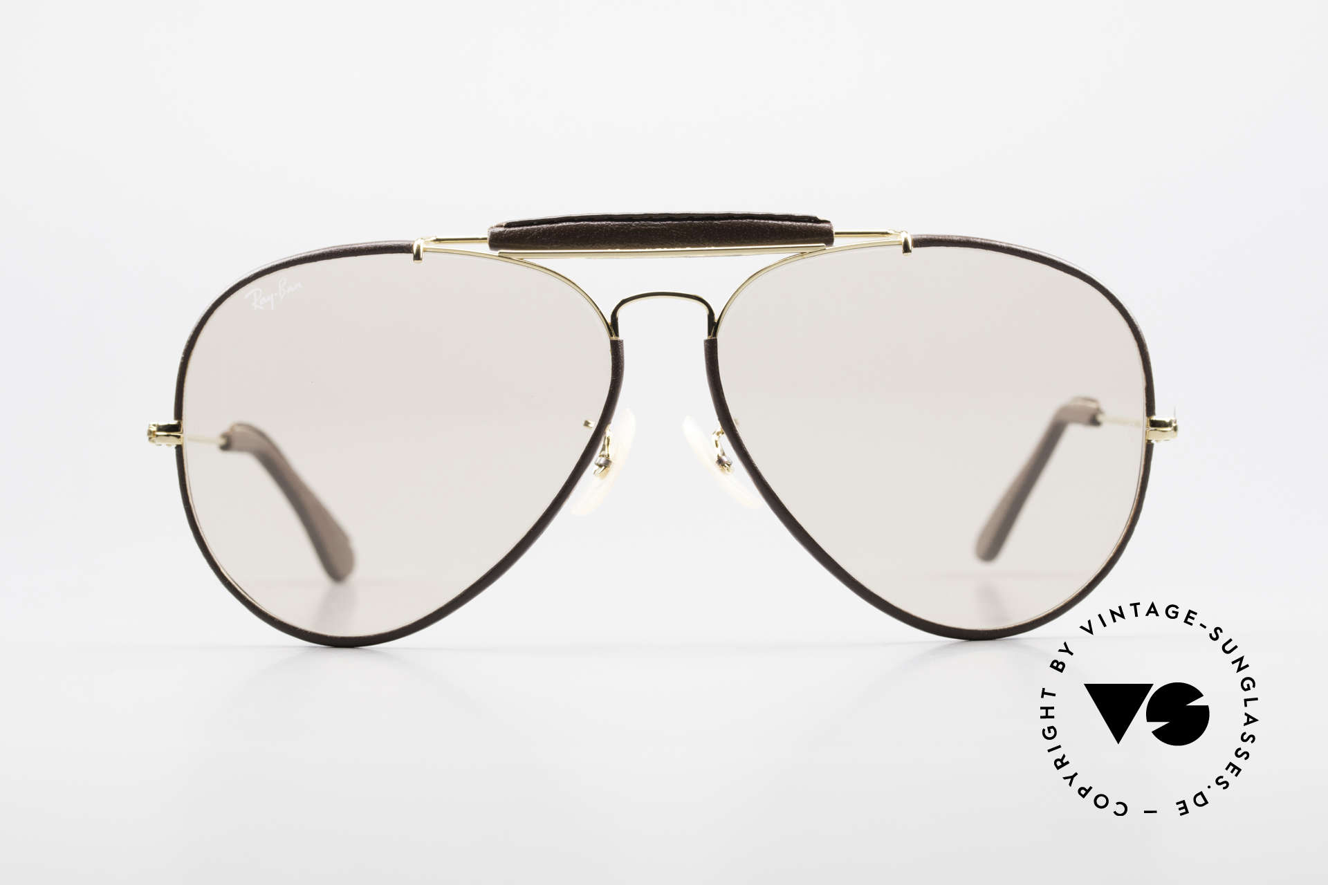 Ray Ban Outdoorsman II Changeable Leathers Shades, Special Leather Edition (very hard to find); made in USA, Made for Men