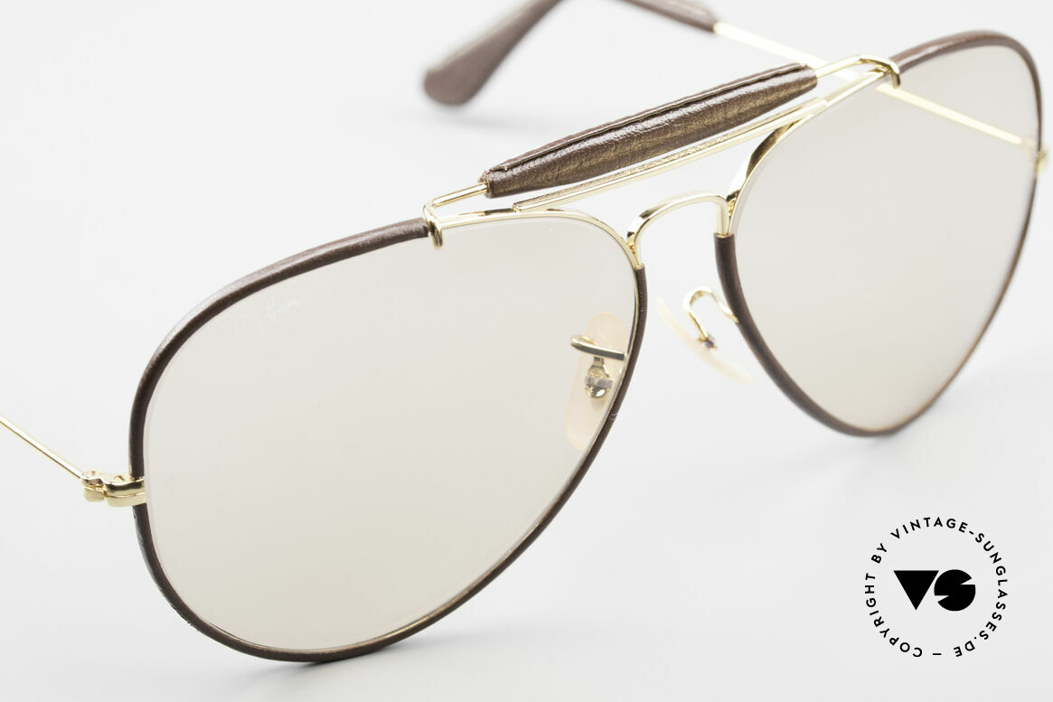 Ray Ban Outdoorsman II Changeable Leathers Shades, unworn vintage shades (true collector's item, worldwide), Made for Men