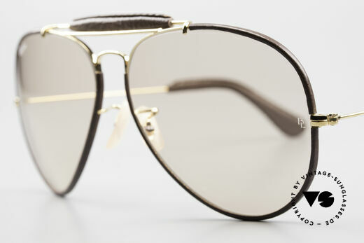 Ray Ban Outdoorsman II Changeable Leathers Shades, NO RETRO sunglasses, but a rare original from the 1980s, Made for Men