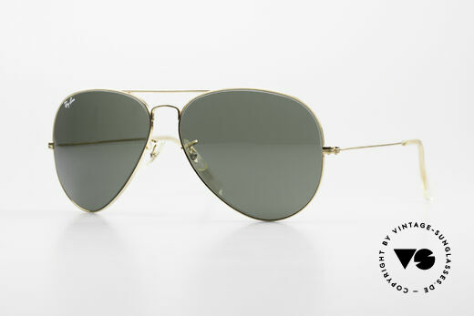 Ray Ban Large Metal II Old 80's B&L USA Sunglasses Details
