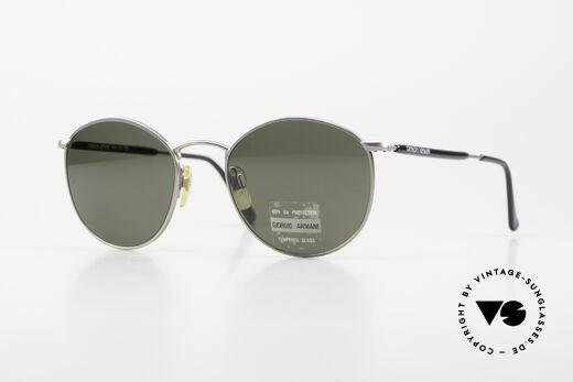 Giorgio Armani 627 Vintage Panto Sunglasses 90's Details