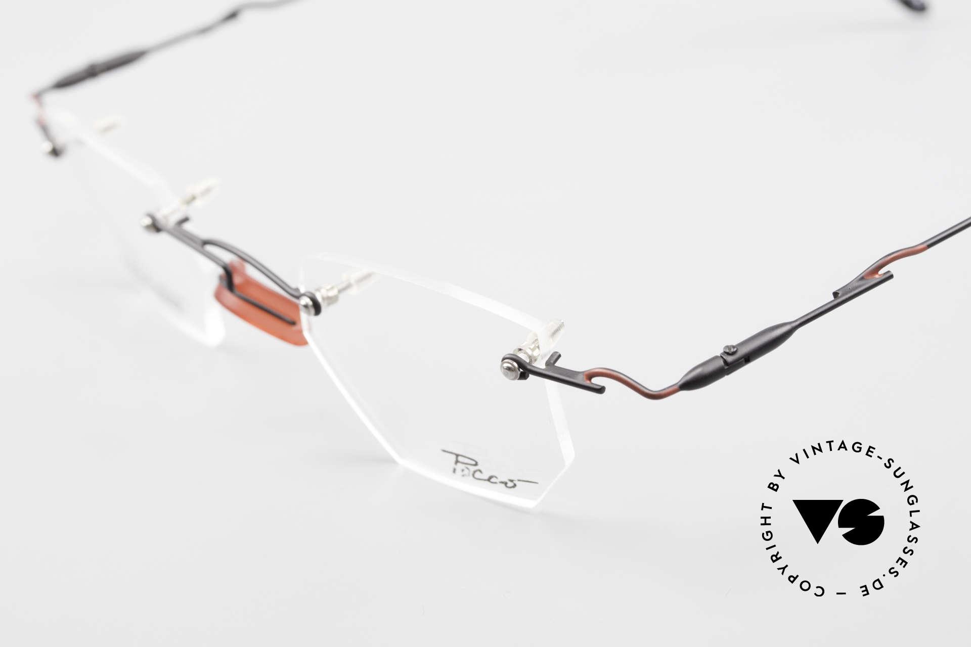 Locco Profile Crazy Vintage Eyeglasses 90's, NO RETRO eyeglasses, but an old 1990's ORIGINAL, Made for Men and Women