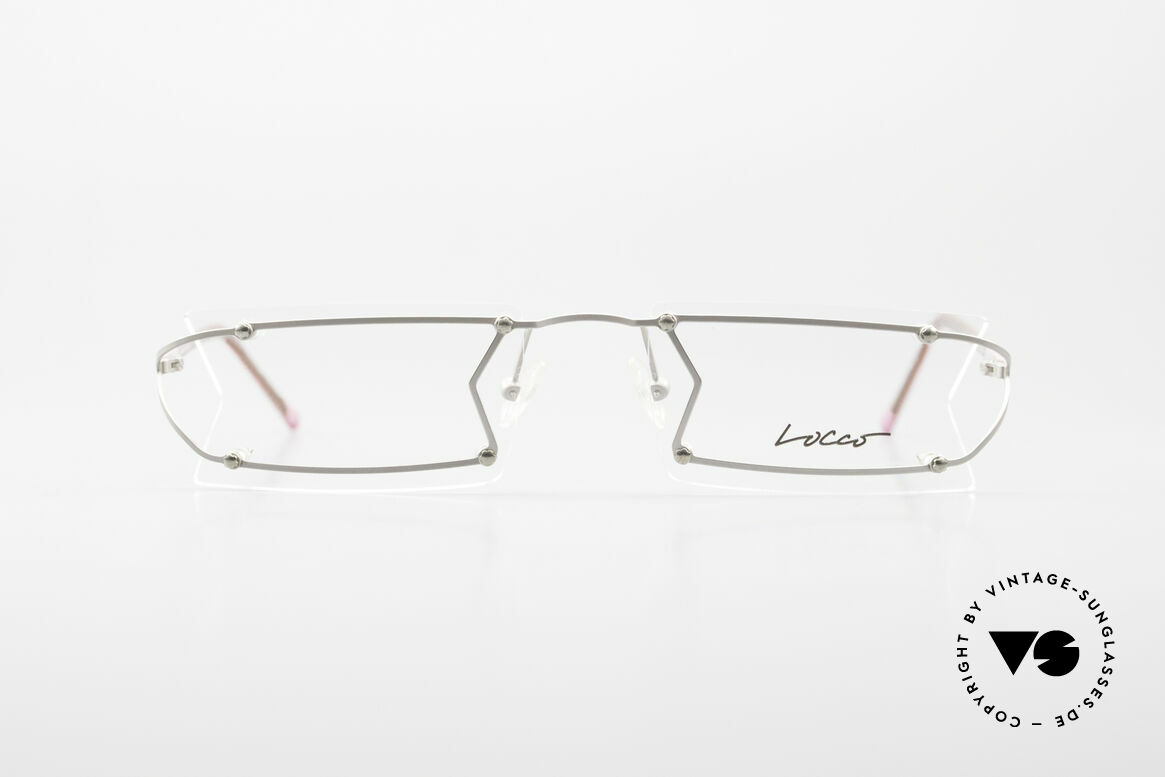 """Locco Pinot Crazy Designer Eyeglasses 90's, the slogan:""""Funtastic Eyewear for Funtastic People"""", Made for Men and Women"""