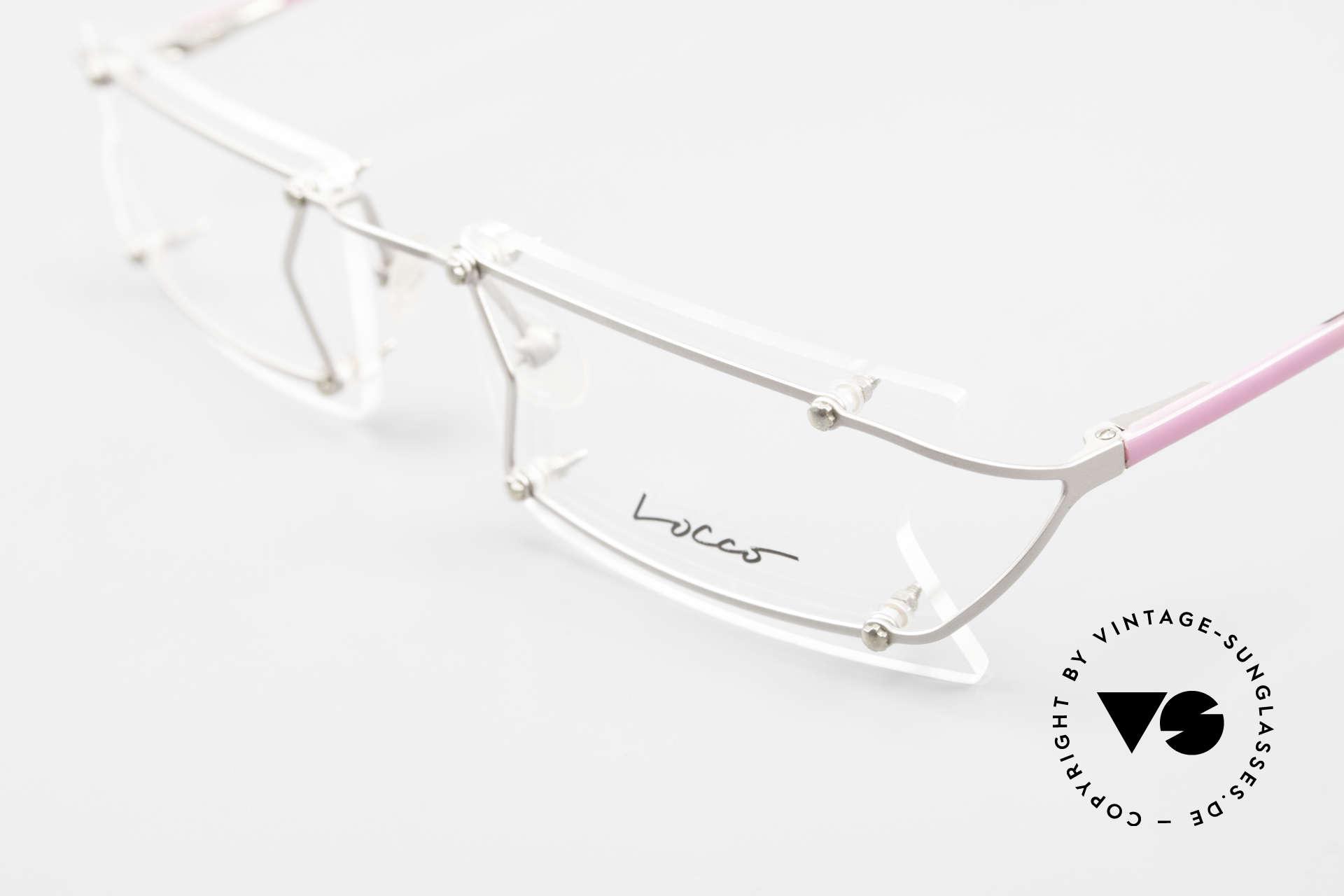 Locco Pinot Crazy Designer Eyeglasses 90's, NO RETRO eyeglasses, but an old 1990's ORIGINAL, Made for Men and Women