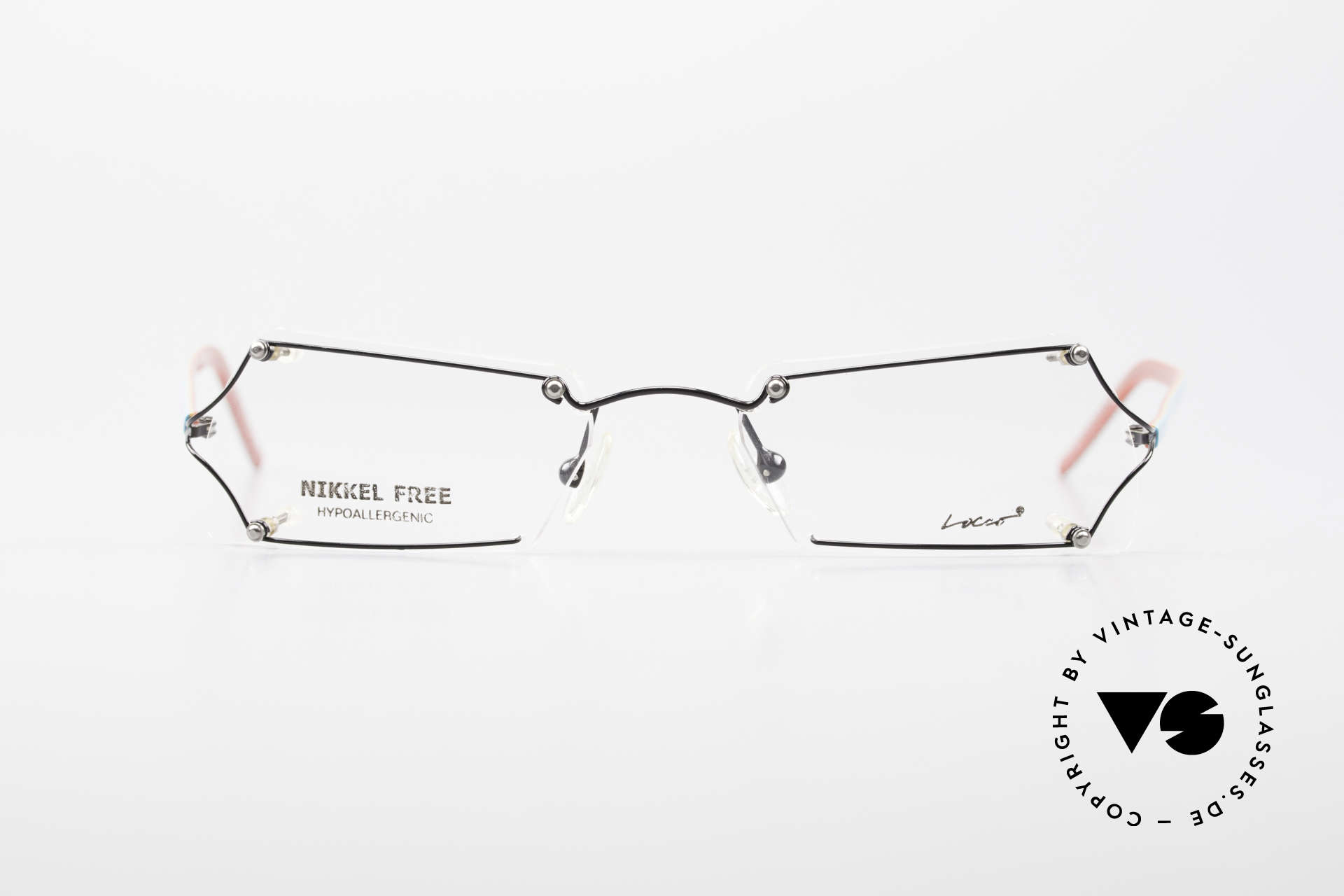 """Locco Lux Crazy 90's Rimless Eyeglasses, the slogan:""""Funtastic Eyewear for Funtastic People"""", Made for Men and Women"""