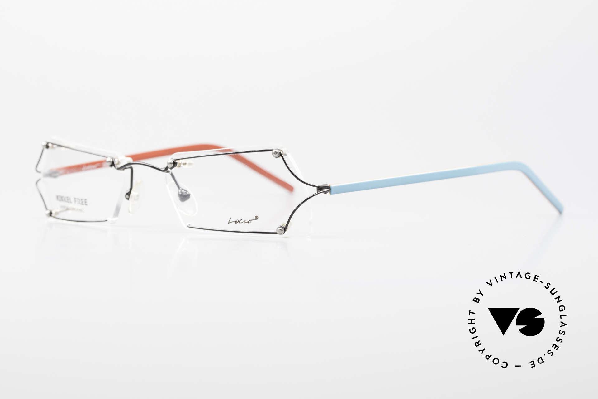 """Locco Lux Crazy 90's Rimless Eyeglasses, made for individualists and all """"character heads"""" ;), Made for Men and Women"""