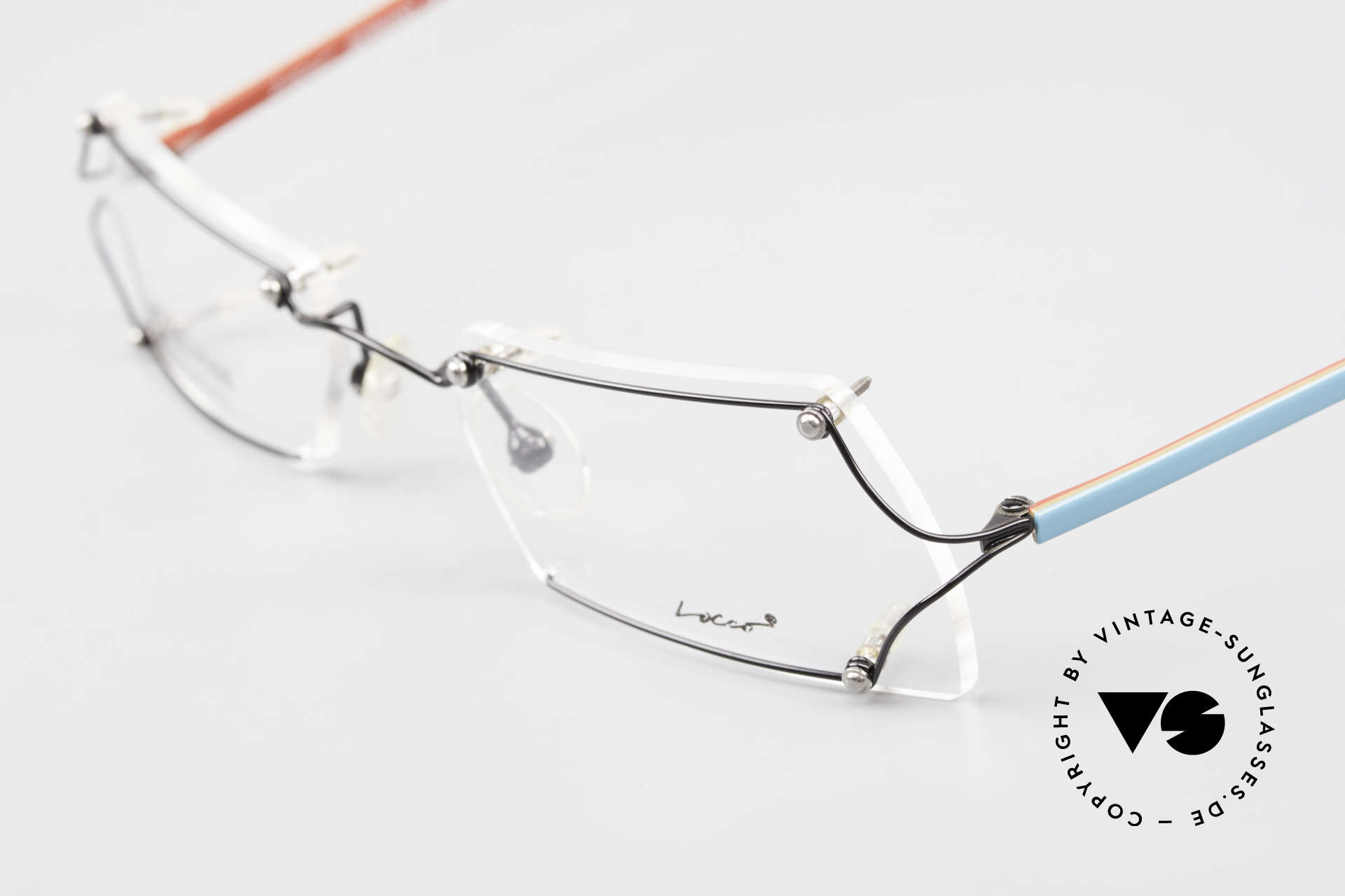 Locco Lux Crazy 90's Rimless Eyeglasses, NO RETRO eyeglasses, but an old 1990's ORIGINAL, Made for Men and Women