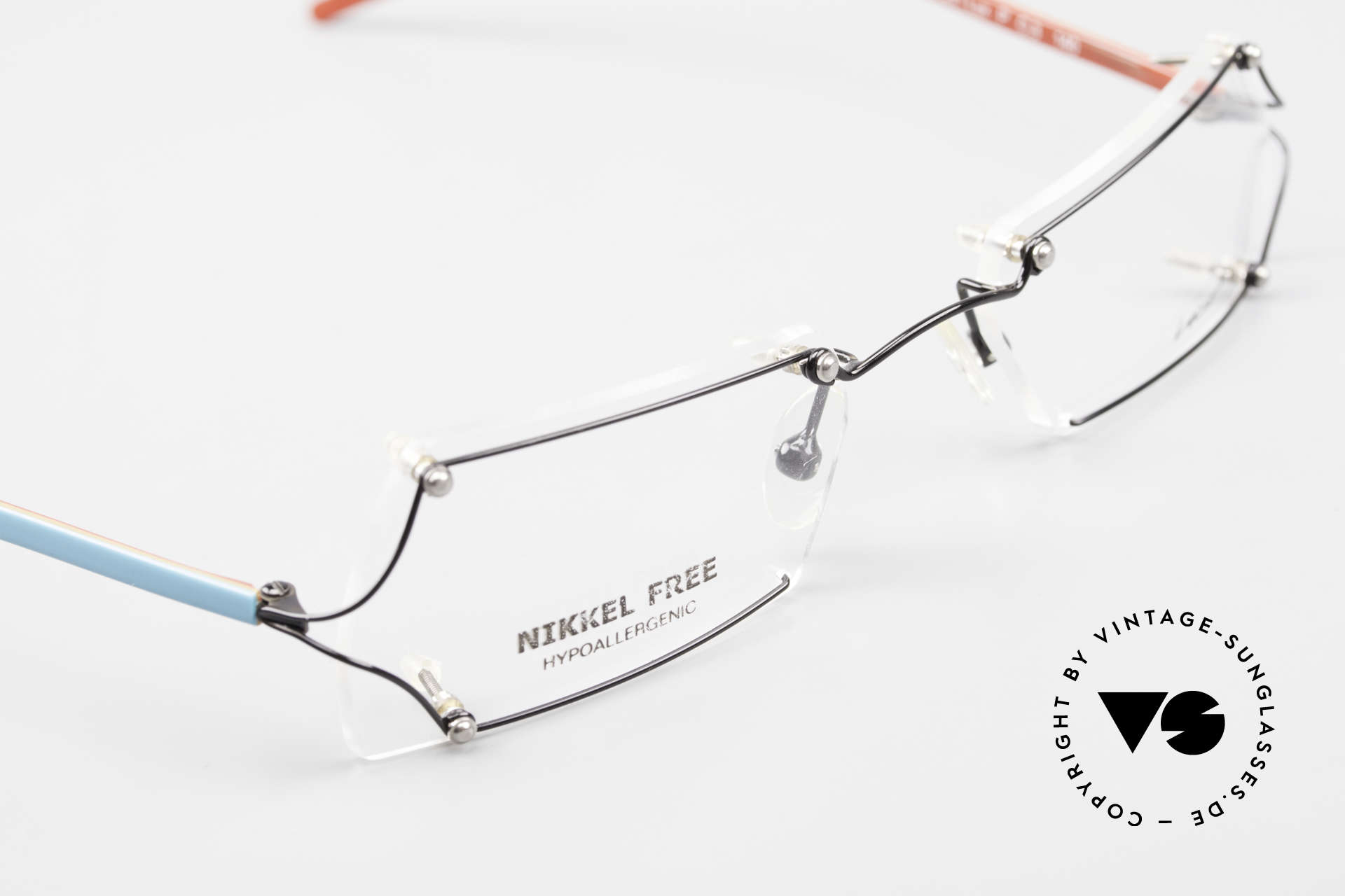 Locco Lux Crazy 90's Rimless Eyeglasses, demo lenses should be replaced with prescriptions, Made for Men and Women