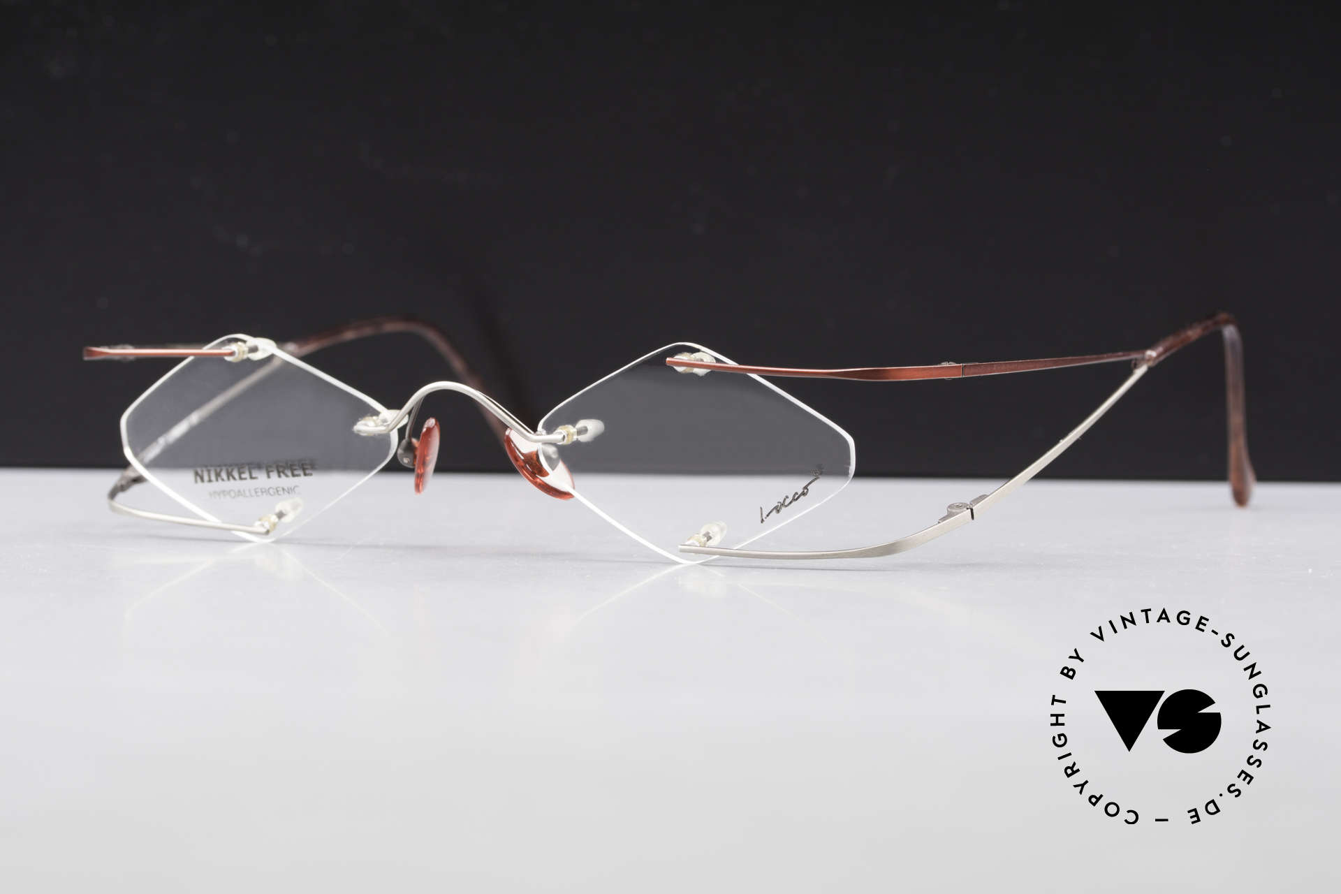 Locco Stars A Extraordinary 90's Eyeglasses, never worn vintage rarity for cheerfulness & mirth, Made for Men and Women