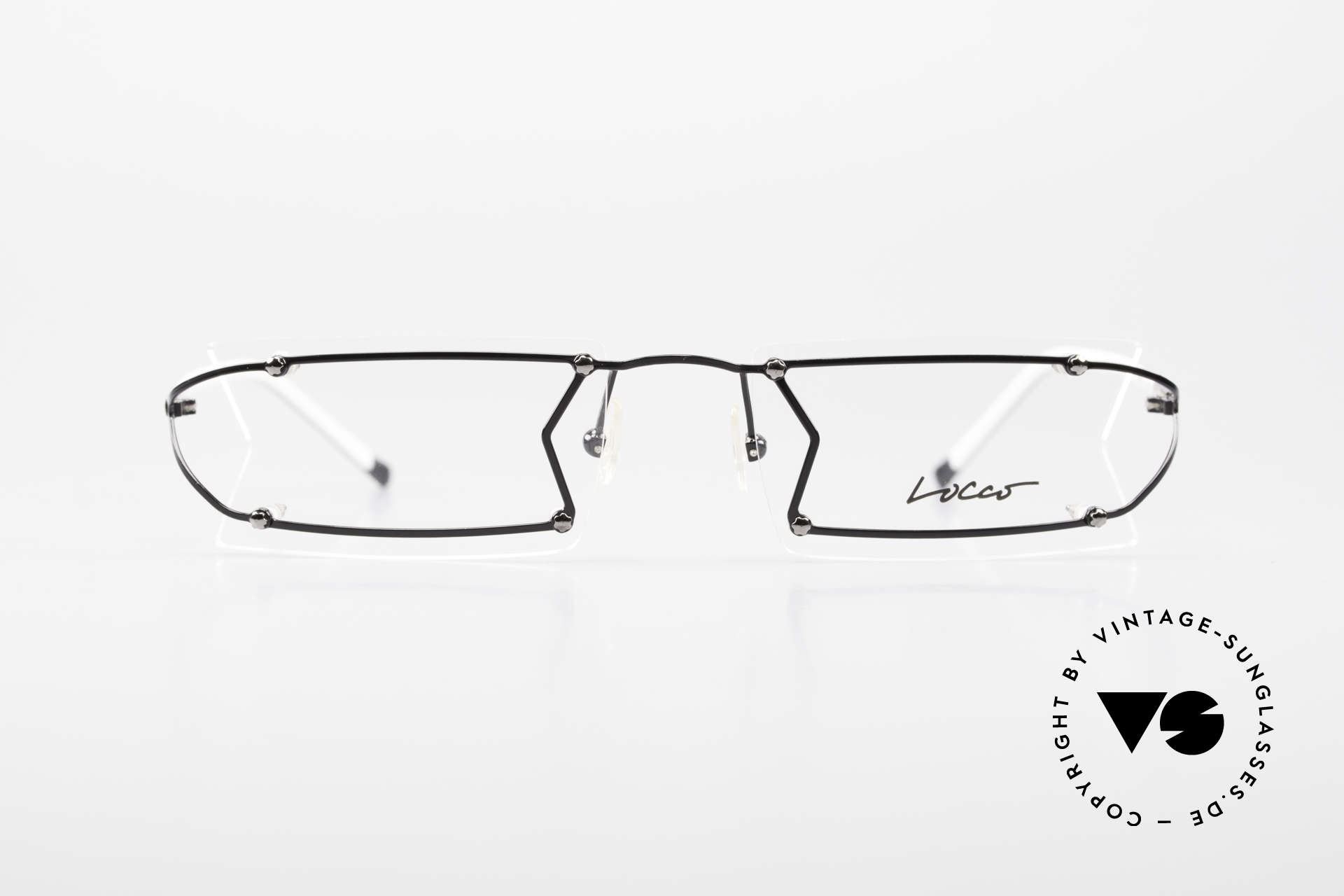 """Locco Pinot Crazy 90's Rimless Eyeglasses, the slogan:""""Funtastic Eyewear for Funtastic People"""", Made for Men and Women"""