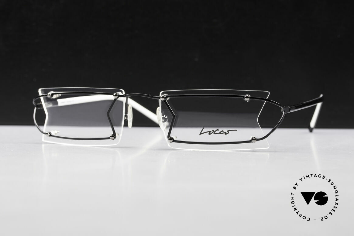 Locco Pinot Crazy 90's Rimless Eyeglasses, never worn vintage rarity for cheerfulness & mirth, Made for Men and Women