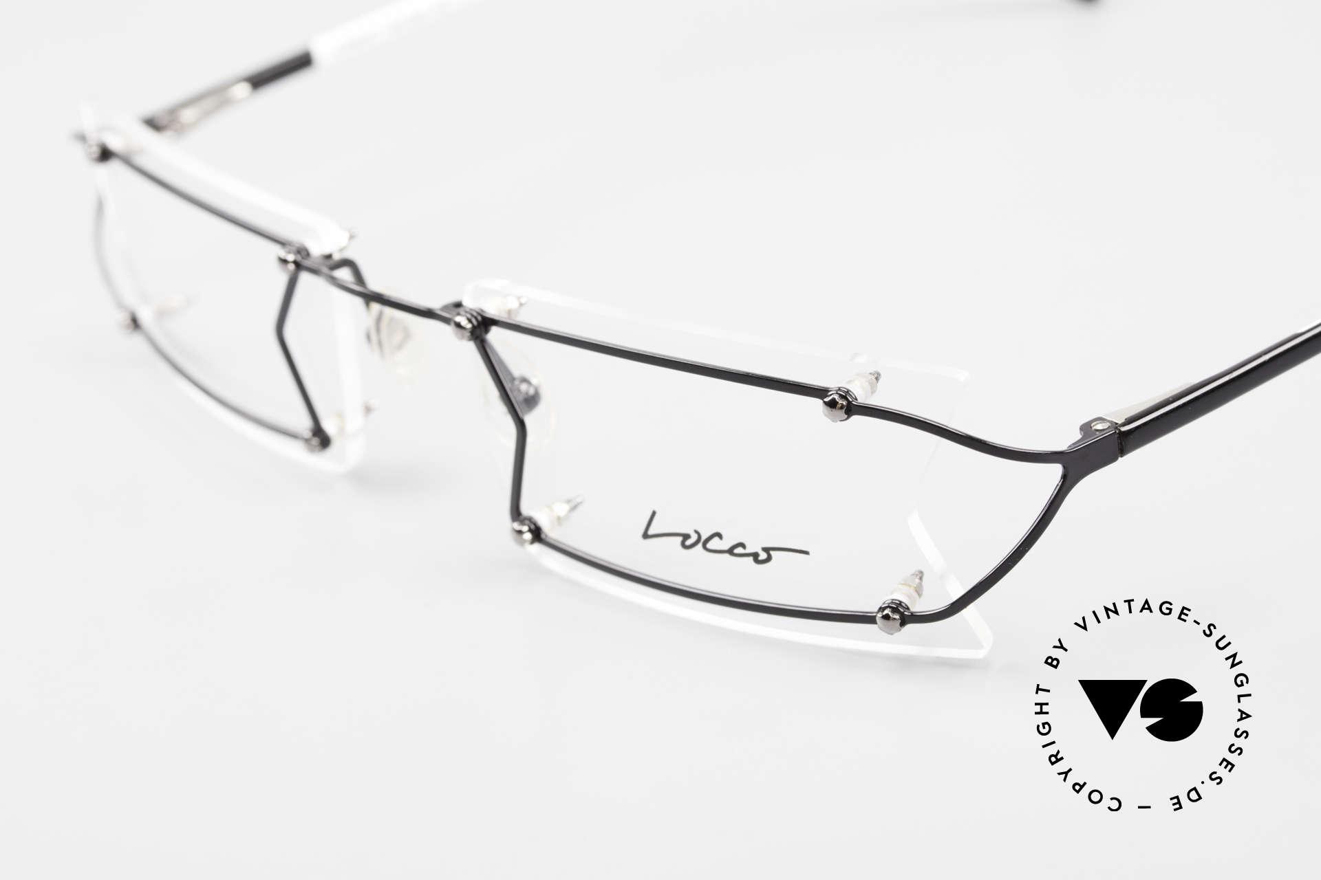 Locco Pinot Crazy 90's Rimless Eyeglasses, NO RETRO eyeglasses, but an old 1990's ORIGINAL, Made for Men and Women