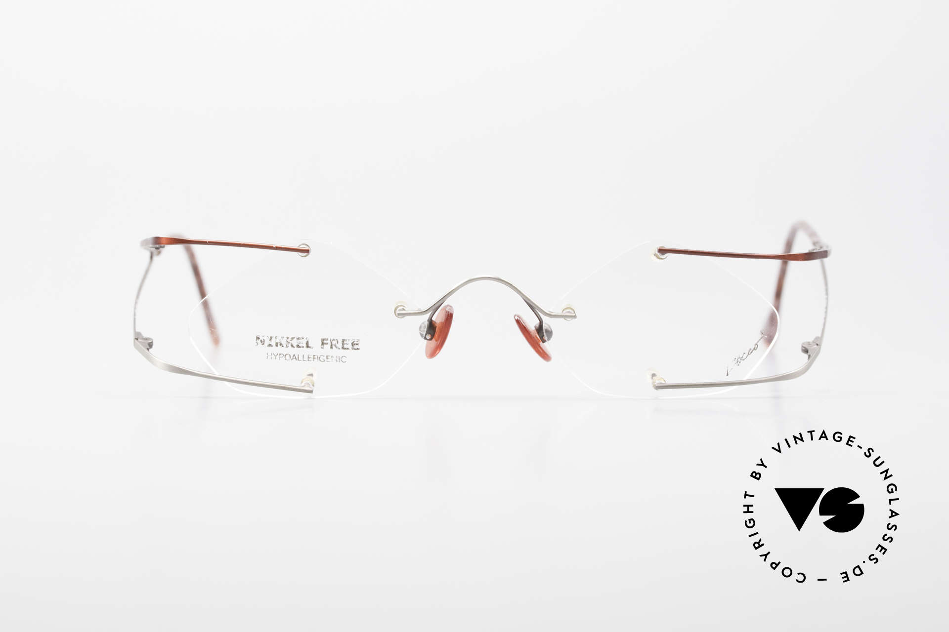 """Locco Stars C Extraordinary Rimless Frame, the slogan:""""Funtastic Eyewear for Funtastic People"""", Made for Men and Women"""