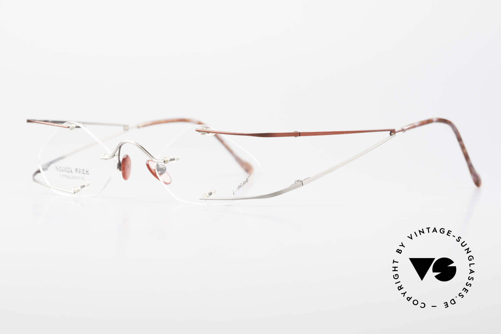 """Locco Stars C Extraordinary Rimless Frame, made for individualists and all """"character heads"""" ;), Made for Men and Women"""