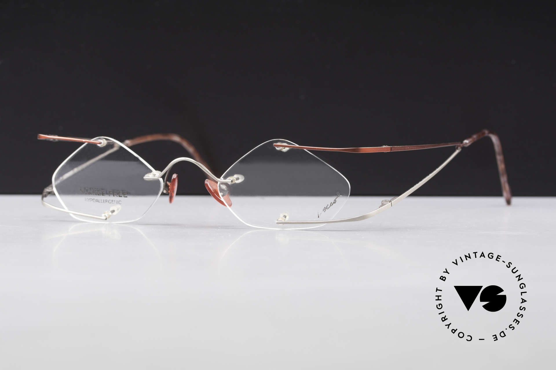 Locco Stars C Extraordinary Rimless Frame, never worn vintage rarity for cheerfulness & mirth, Made for Men and Women