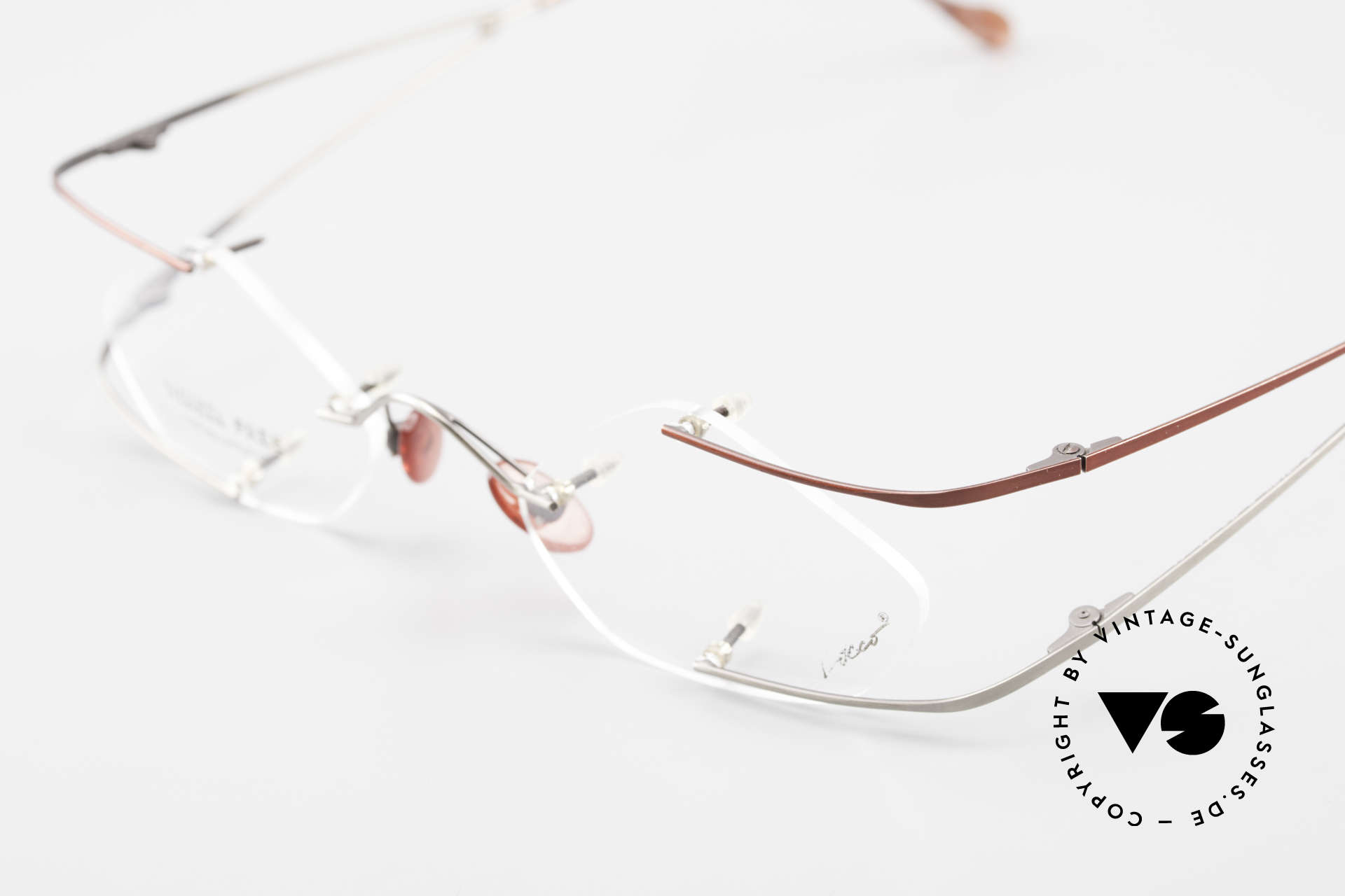 Locco Stars C Extraordinary Rimless Frame, NO RETRO eyeglasses, but an old 1990's ORIGINAL, Made for Men and Women