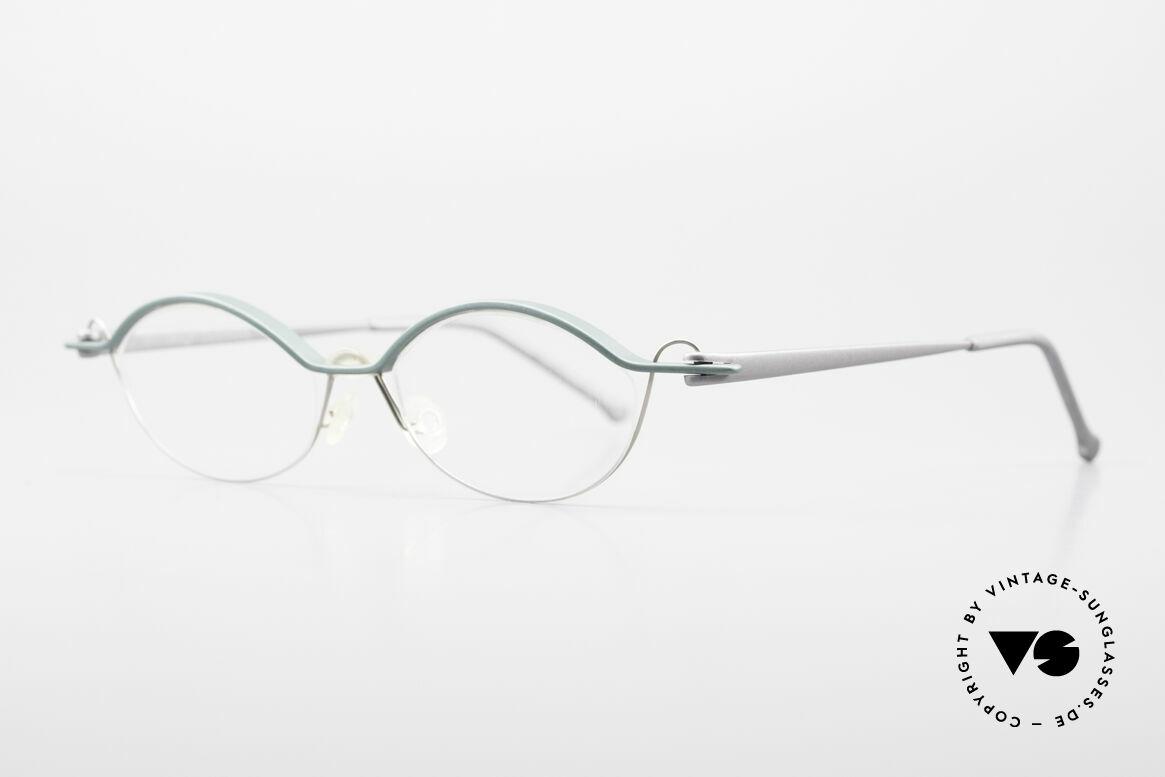 ProDesign No25 Gail Spence Aluminium Frame, very interesting VINTAGE designer eyeglass-frame, Made for Men and Women