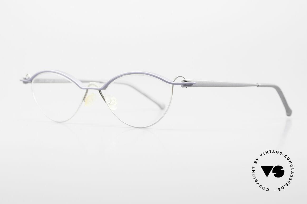 ProDesign No26 Aluminium Gail Spence Frame, very interesting VINTAGE designer eyeglass-frame, Made for Men and Women
