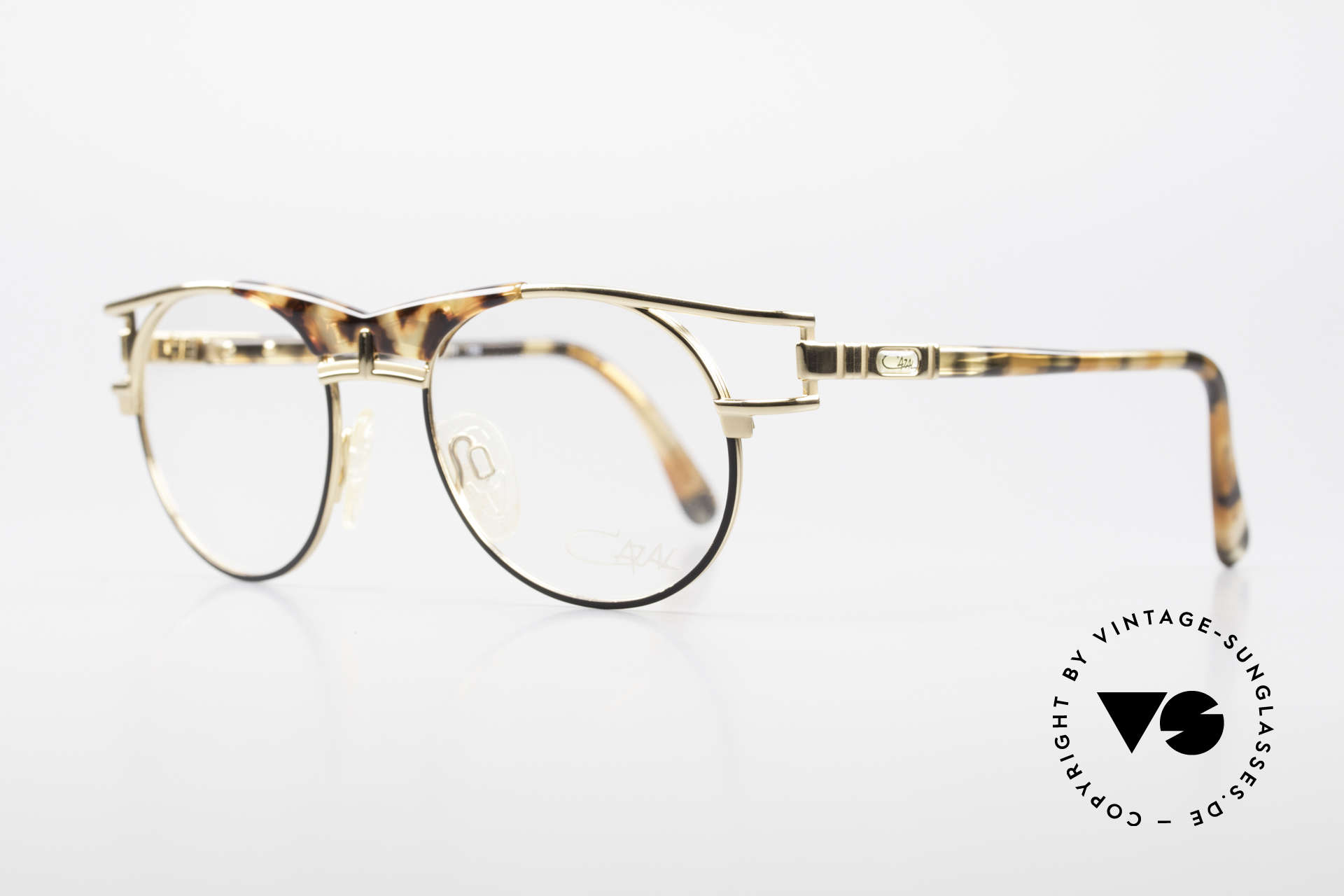 Cazal 244 Iconic 90's Vintage Eyeglasses, fantastic combination of colours and materials, Made for Men and Women