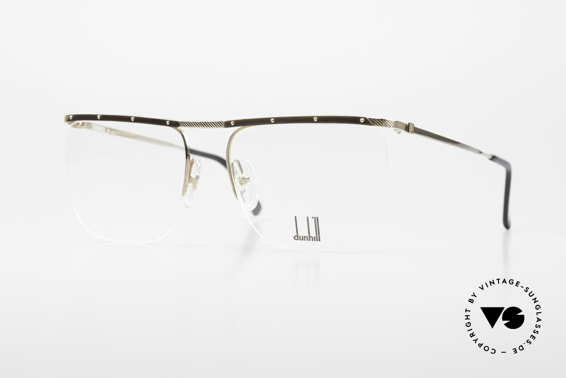 Dunhill 6056 80's Genuine Horn Trims Frame, Alfred Dunhill luxury eyeglass-frame from 1988, Made for Men