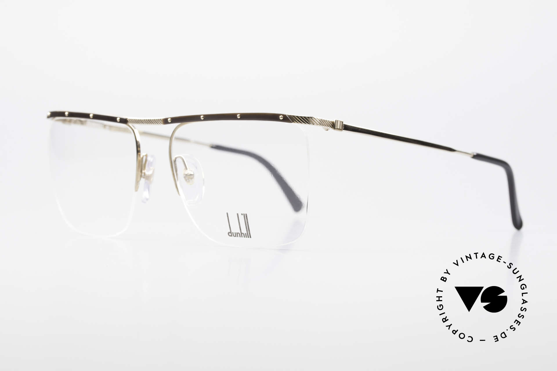 Dunhill 6056 80's Genuine Horn Trims Frame, timeless, stylish design (real gentleman specs), Made for Men