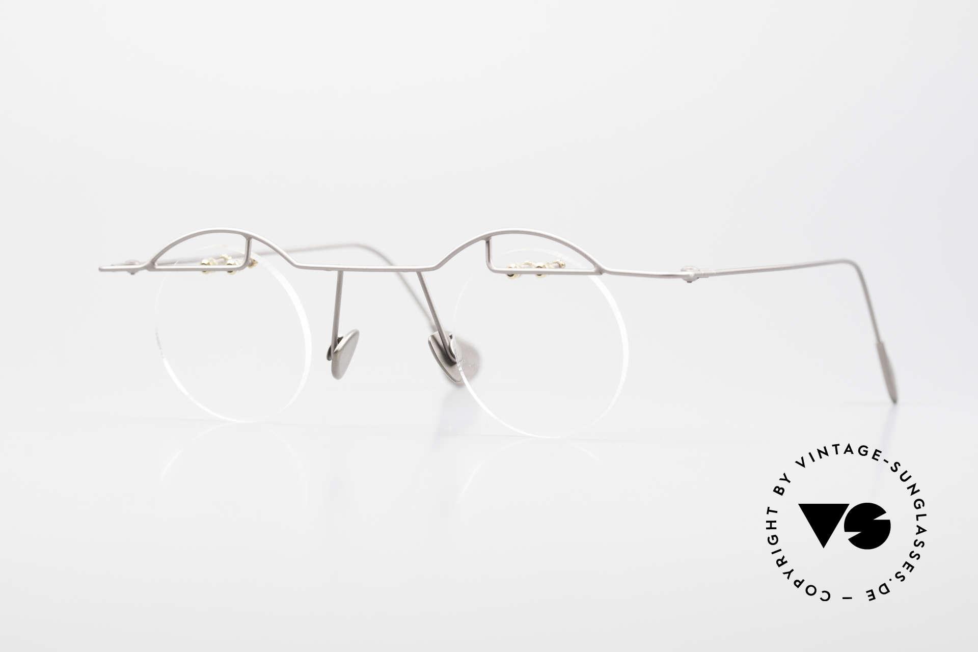 Paul Chiol 02 Rimless Eyeglasses Bauhaus, vintage 90's Paul CHIOL designer eyeglass-frame, Made for Men and Women