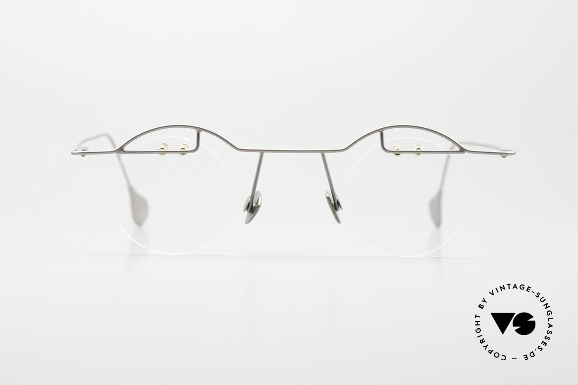 Paul Chiol 02 Rimless Eyeglasses Bauhaus, a synonym for sophisticated rimless spectacles, Made for Men and Women