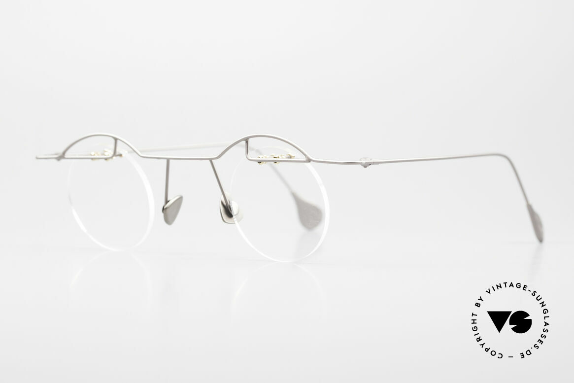 Paul Chiol 02 Rimless Eyeglasses Bauhaus, filigree and cleverly devised design; simply chichi, Made for Men and Women