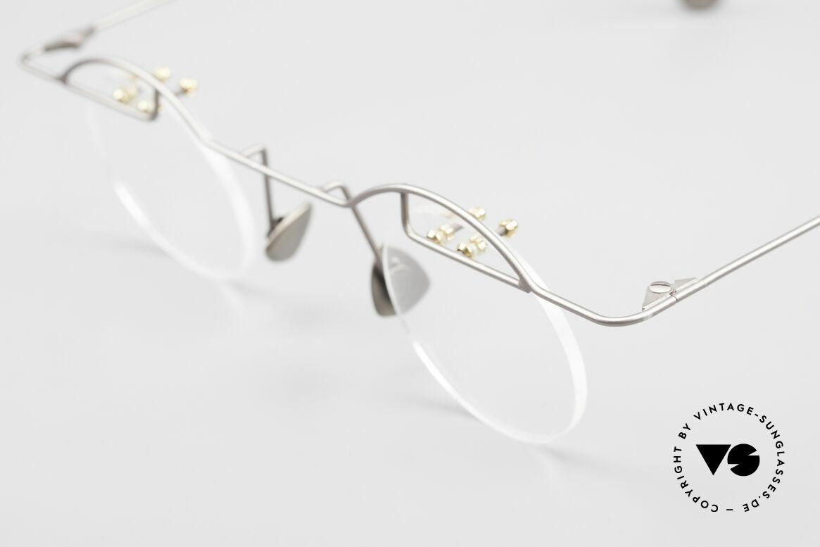 Paul Chiol 02 Rimless Eyeglasses Bauhaus, an unworn masterpiece with original DEMO lenses, Made for Men and Women