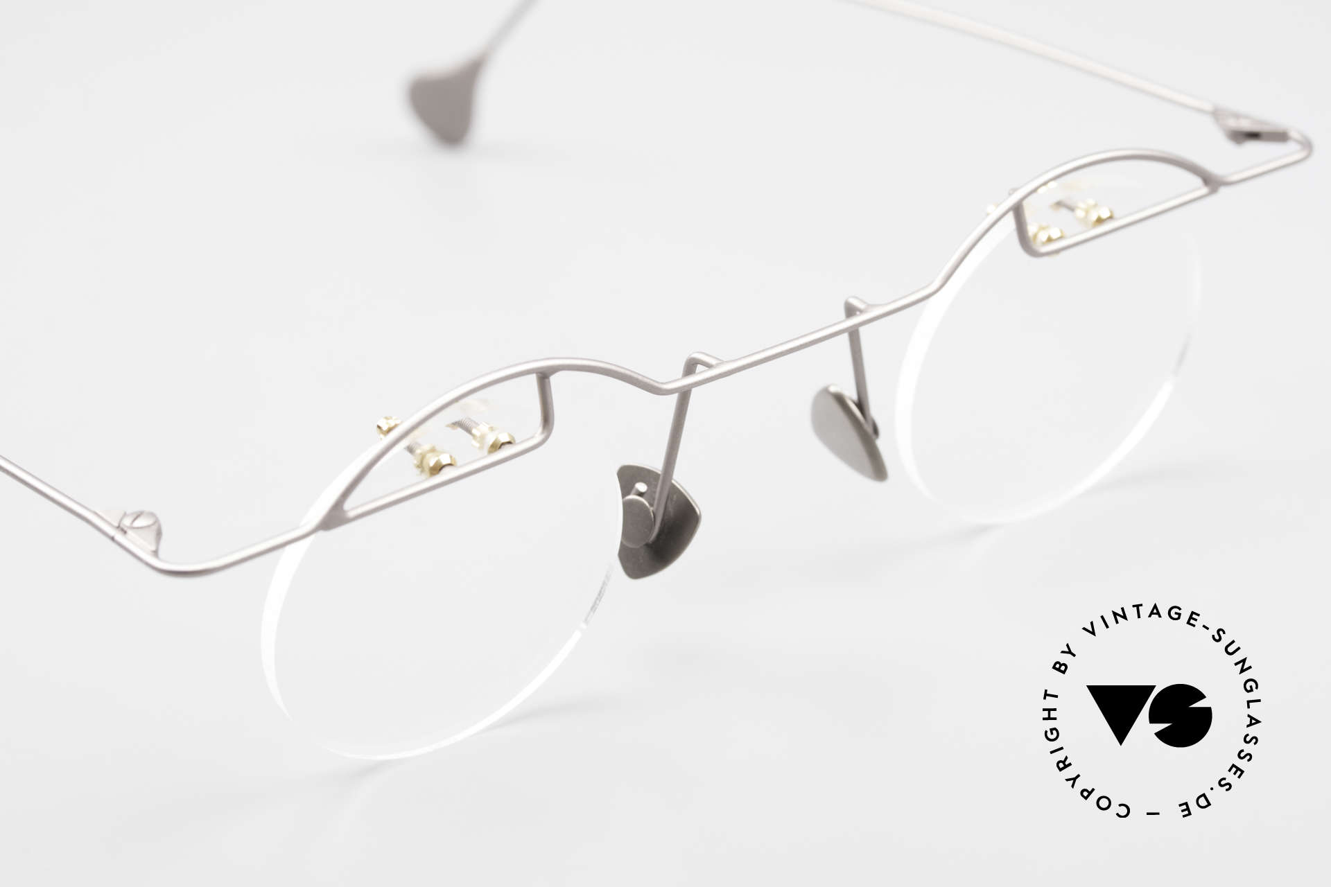 Paul Chiol 02 Rimless Eyeglasses Bauhaus, the frame (Bauhaus style) can be glazed optionally, Made for Men and Women