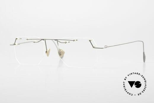 Paul Chiol 09 Artful Rimless Eyeglasses 90's Details
