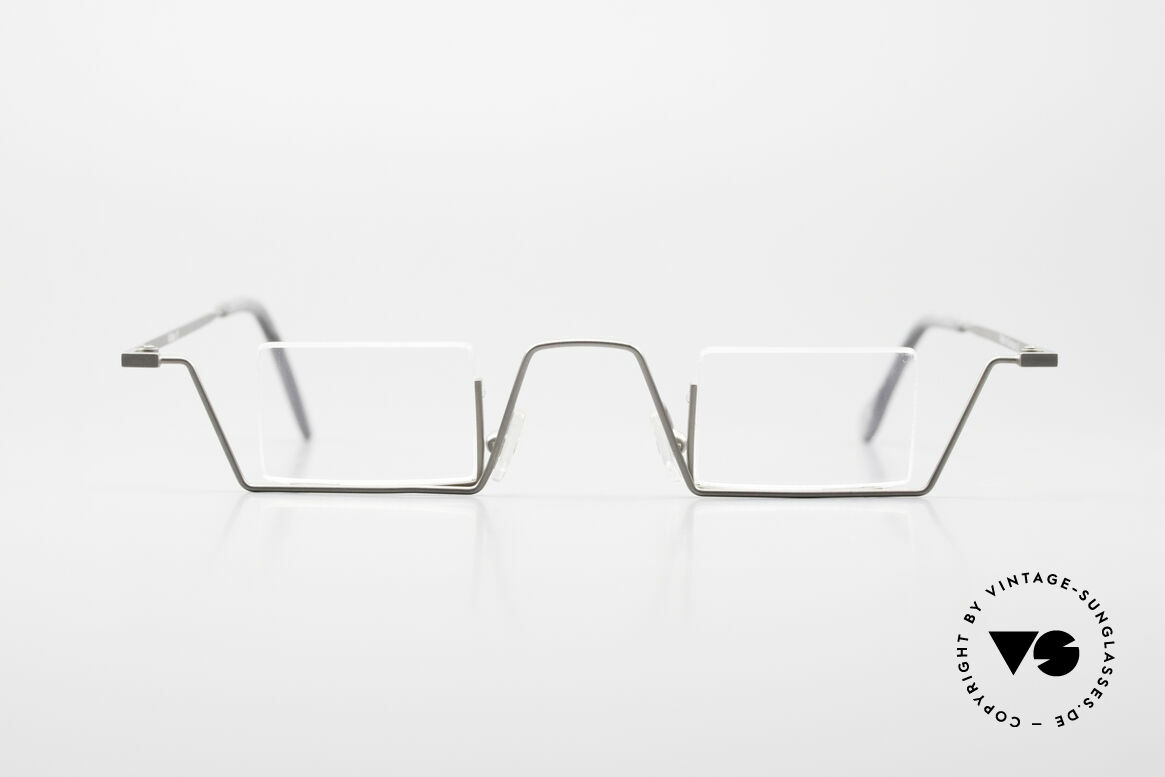 Kähler 13 Square Reading Frame Bauhaus, rare vintage 1990's designer eyeglasses by Kähler, Made for Men and Women